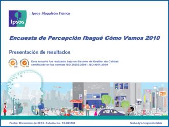 Presentación Encuesta de Percepción 2010