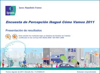 Presentación Encuesta de Percepción Ciudadana 2011